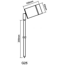 GAP G25-B3-W Spike Light Whi LED 5W Blk