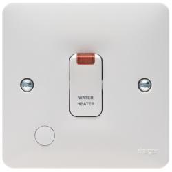 Hager WMDP85FON Switch DP&FO&LED 20A