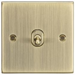 10AX 1G Intermediate Toggle Switch - Square Edge Antique Brass