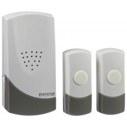 White Wireless Dual Entrance Door Chime Kit (100m range)